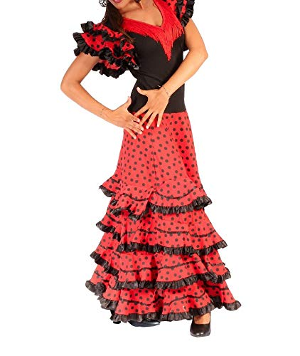 ANUKA Traje de Baile Flamenco para Mujer Mod.Gitana, (S): Amazon ...