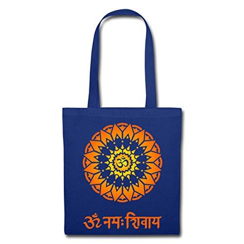 Spreadshirt OM Namah Shivaya Sanskrit Zeichen Stoffbeutel Royalblau