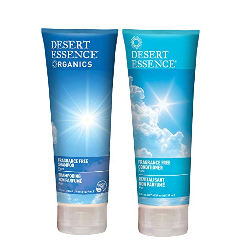 Desert Essence Fragrance Free Shampoo & Conditioner Bundle - 8 fl oz ea