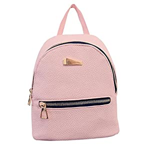 Amazon.com: PU Leather Backpack Bags,Hemlock Girls Travel Handbag ...