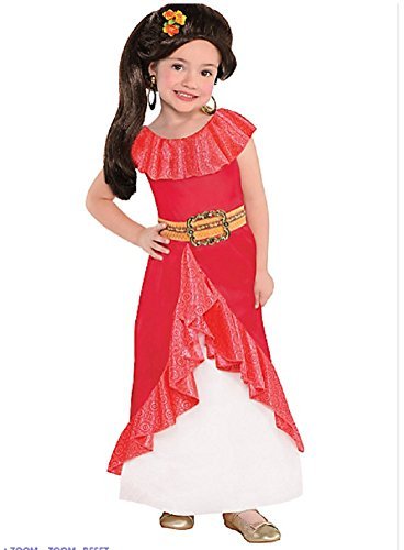 Costumes USA Elena of Avalor Costume for Girls, Size 3-4T, Features a Ruffled Hemline and a Sparkle Mesh Underskirt -