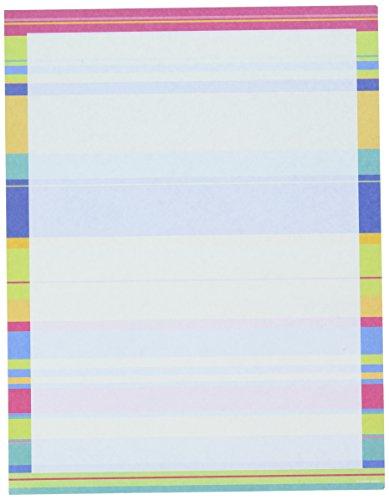 Gartner Studios Bright Stripes Stationery, 100 Count ()