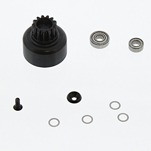 Team Losi 8ight-T Nitro 4WD Truggy 1/8: 13T Clutch Bell, Bearing Set & Washers (Truggy Clutch)