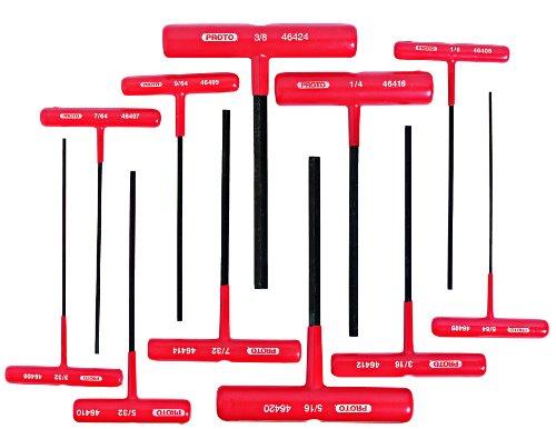Stanley Proto J4968 T-Handle Hex Key Set, 11-Piece