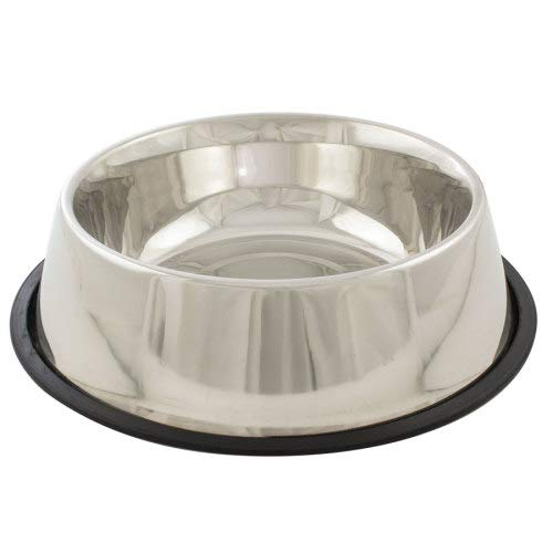 (Indipets Stainless Steel No-Tip Dog Bowl 160 OZ)