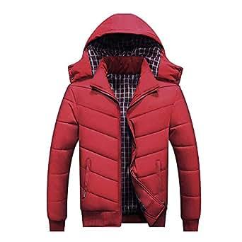 Amazon.com: Sprint-Love Winter Warm Jacket for Men Hooded
