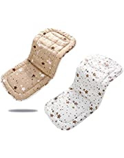 Baby Stroller Cushion, Cotton Infant Stroller Breathable Stroller Car High Chair Seat for 4 Seasons Double Sides 31''x 13''