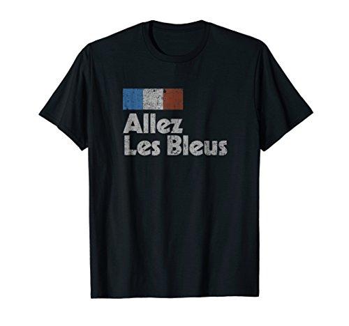 (Retro France Soccer Shirt 2018 French Flag ALLEZ LES BLEUS)
