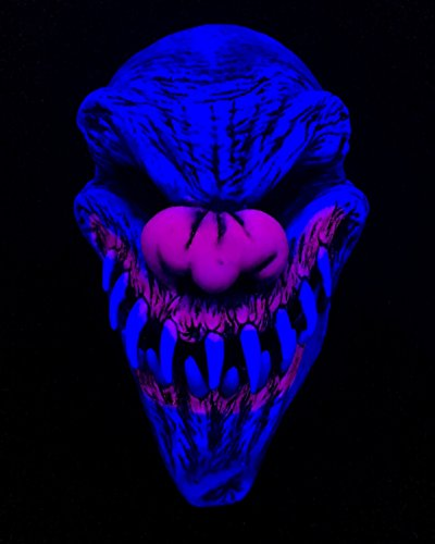 Zagone Studios UV Black Light Reactive Last Laugh Evil Clown Mask by Zagone Studios (Image #1)