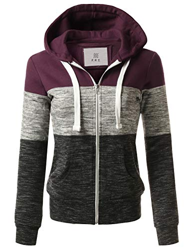 e543094d41d4 Made By Johnny MBJ Womens Active Soft Zip Up Fleece Hoodie Sweater ...