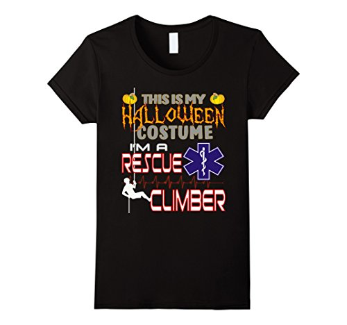 Lady Working Costume Hard (Womens Rescue Climber Halloween Costume Shirt Medium)