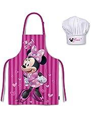 Palleon Minnie kookset voor kinderen, kookschort en kookmuts