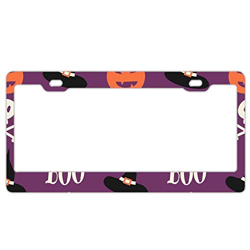 YEX Abstract Cute halloween6 License Plate Frame Car Licence Plate Covers Auto Tag Holder 6