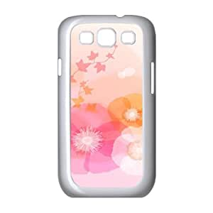 Samsung Galaxy S3 Cases Flower 350 Cute for Girls, Case for Samsung Galaxy S3 I9300 Cute for Girls [White]