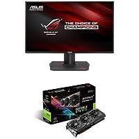 ASUS ROG SWIFT\ 27 2560x1440 IPS 165Hz 4ms G-SYNC Eye Care Gaming Monitor & ASUS GeForce GTX 1070 8GB ROG STRIX Bundle
