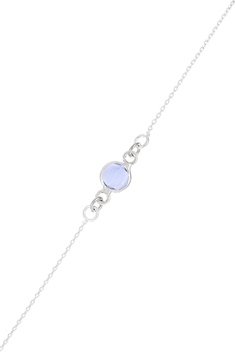 Córdoba Jewels | Pulsera en Plata de Ley 925 con Piedra semipreciosa. Diseño Dolce Calcedonia