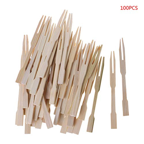 - Bamboo Forks 3.5 Inch, Mini Food Picks Double Prong Cocktail Forks for Party, Banquet, Buffet, Catering, and Daily Life