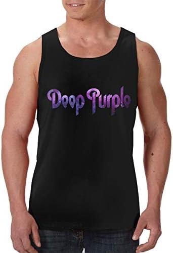 Doop Purple メンズ 印刷 袖なしク シャツ 筋肉シャツ レーニング ティーズ 吸汗速乾