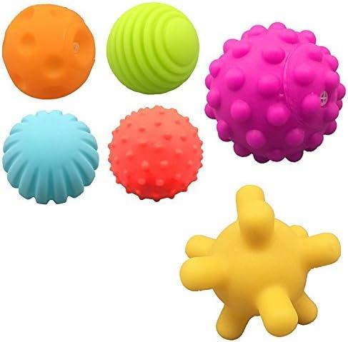 HuaQingPiJu-JP 6個の子供のかわいいボールバスタブバスのシャワーのおもちゃの水の遊びのおもちゃのパック