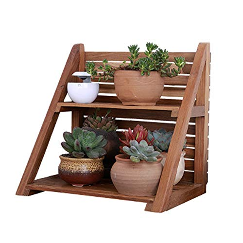 YWYF Small Flower Stand Office Window Sill Storage Rack Pot Rack Multi-Small Plant Stand (Color : Brown, Size : A)