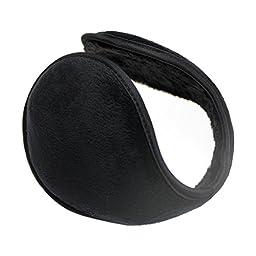 RECHERE Unisex Earmuffs Earwarmers Winter Warm Behind head Wrap Around Ski Grip(Black)