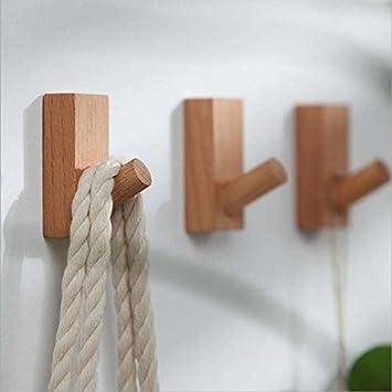 Pack de 3 percheros de madera de haya con pinzas de palo ...