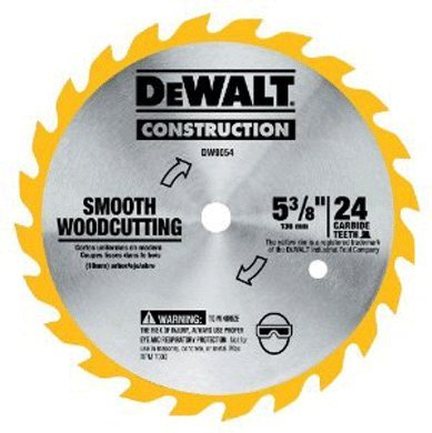 DEWALT DW9054 5-3/8-Inch 24 Tooth ATB General Purpose Saw Blade