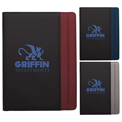 Good Value Vertical Stitch Padfolio Black/Gray 100 Pack