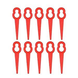 TOPBATHY - 150 Cuchillas de Repuesto para cortacésped (plástico ...