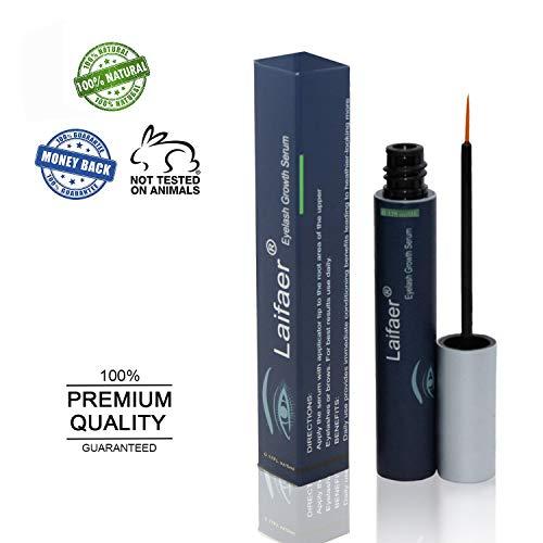 Brow Serum for Long, Luscious Lashes and Eyebrows.Eyelash Growth Serum for Lash and Brow Irritation Free Formula Eyelash Growth Enhancer ()