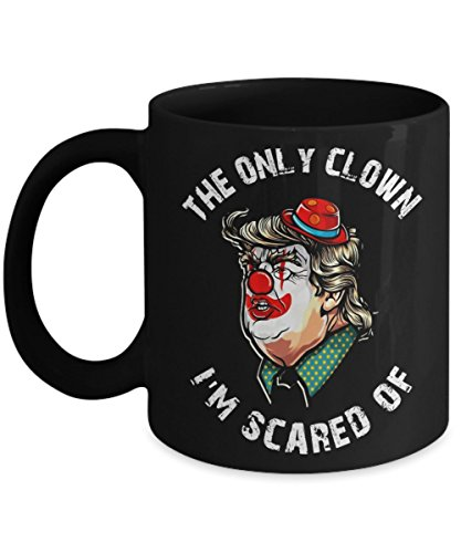 Clown Prank Anti Trump Democrat Halloween - Funny Happy Halloween Day Coffee Mugs Gift Coffee Cup - Halloween Great Gifts for Men, Women, Kids, Mom, D -