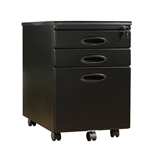 Sauder 18581 File Cabinets, Furniture Select Black Mobile by Sauder