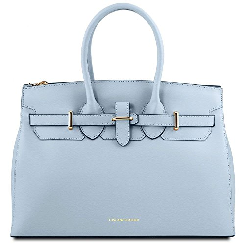 Tuscany Leather TL141548, Borsa a spalla donna Blu blu compact