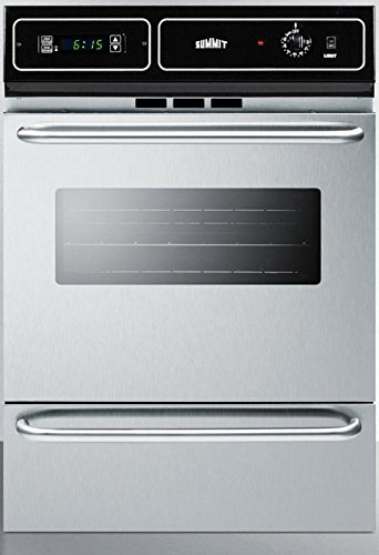 "Summit Appliance 24"" Gas Single Wall Oven in Stainless Steel"