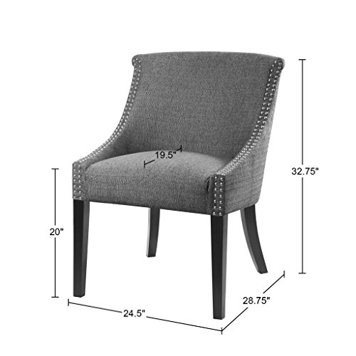 Caitlyn Roll Back Accent Chair Grey See below