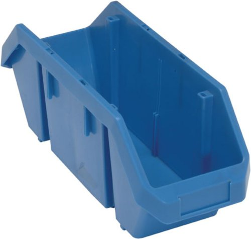 Quick Pick Double Sided Bin - Quantum Storage Systems QP1867BL Quick Pick Bins 18-1/2-Inch by 8-3/8-Inch by 7-Inch, Blue, 10-Pack