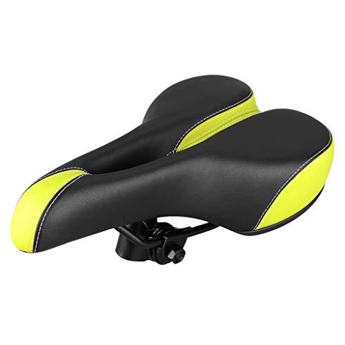 Fewear A.R.S.Bicycle Saddle - Comfortable Bike Seat - Memory Foam Waterproof Bike Saddle - Shock Absorbing - Gel Bicycle Saddle Padded for Men,Women,Universal Riding Bike, Mountain Bike (Green)