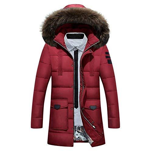Laisla fashion Men's Long Down Jacket Winter Jacket Hoodie Winter Coat Clásico Warm Parka Long Sleeve Hooded Coat Coats Coat Boy Rot