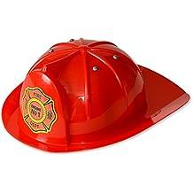 Kid's Fireman Hat; Red Firefighter Hat