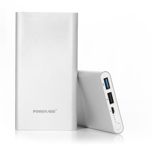 Poweradd Pilot 2GS 10000mAh portable power Bank utilizing bright payment for iPhones, Galaxy and More