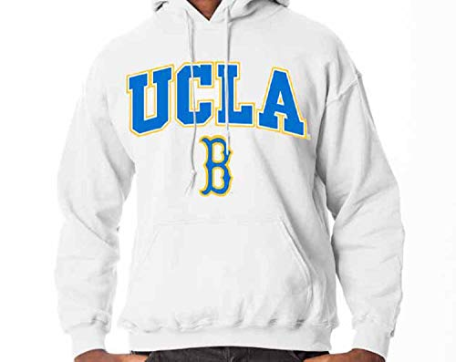 Campus Colors UCLA Bruins Arch & Logo Gameday Hooded Sweatshirt - White, Small (Ucla Fan Gear)