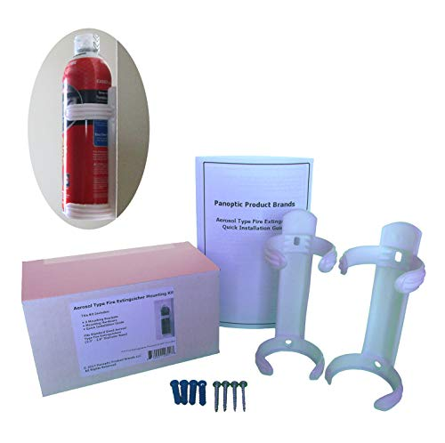 "Aerosol Type fire Extinguisher mounting kit. Fits aerosol Type fire extinguishers with a 2.5"" - 2.7"" Diameter Base (AF400-2 Tundra). Package Includes 2 Brackets, Hardware, and Instructions."