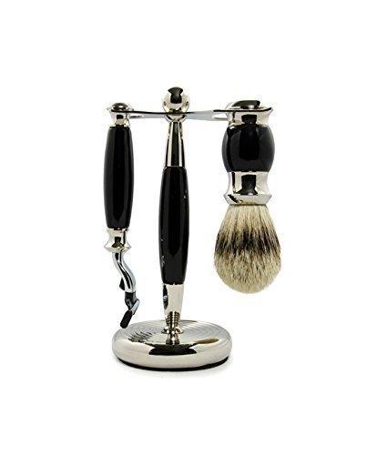 Rockwell Razors 3 Piece Shaving Kit - Premium Shaving Brush with Mach...