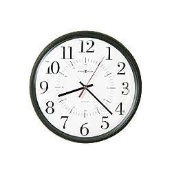 howard-miller Alton Auto Daylight Savings Wall Clock, 14quot;, Black