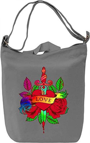 Love Sword Borsa Giornaliera Canvas Canvas Day Bag| 100% Premium Cotton Canvas| DTG Printing|