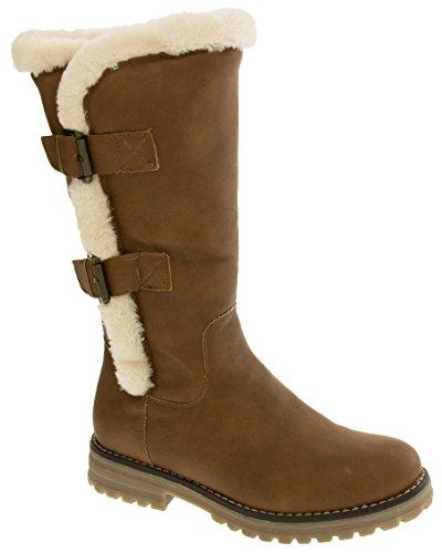 doublées de véritable Studio femmes pour cuir Keddo Bottes Chaussures 03 laine d'hiver 808137 imitation IXR40