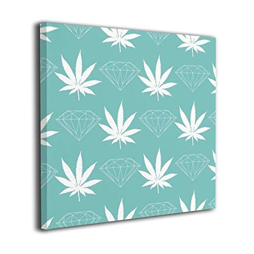 Mintslove Marijuana Diamonds Seamless Graphics Colorful Unframed Decorative Painting Canvas Wall Art Hanging Picture Artwork Wall Decoration for Living Room Bedroom Home Decor - Seamless Diamond Net