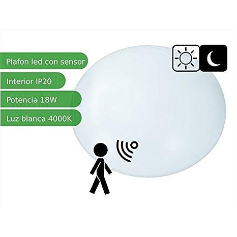 Jandei - Plafón techo LED sensor redondo 18W blanco 4000K natural