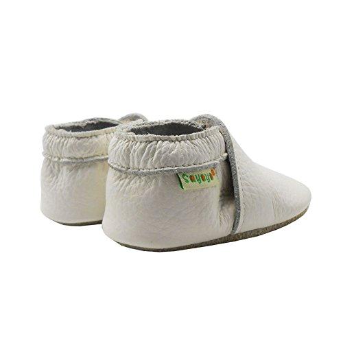 Sayoyo Suaves Zapatos De Cuero Del Bebé Zapatillas Blanco