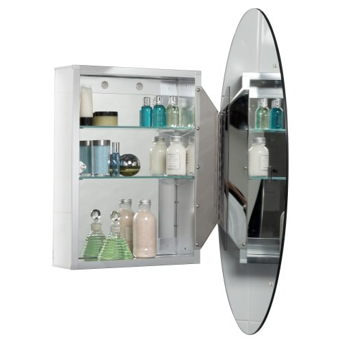 Jacuzzi PD43000 31'' H x 21'' W x 4-1/2'' D Single Door Medicine Cabinet, Silver Aluminum